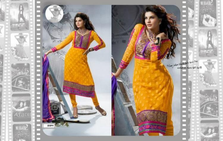 Jacqueline Fernandez Hottest Pose For New Salwar Kameez Collection