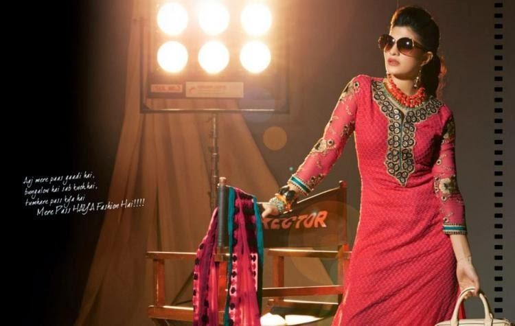 Jacqueline Fernandez Latest Stylist Shoot For New Collection Salwar Kameez