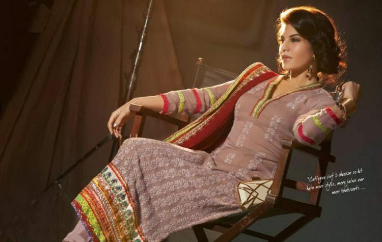 Stunning Beauty Jacqueline Designer Salwar Kameez Photo Shoot