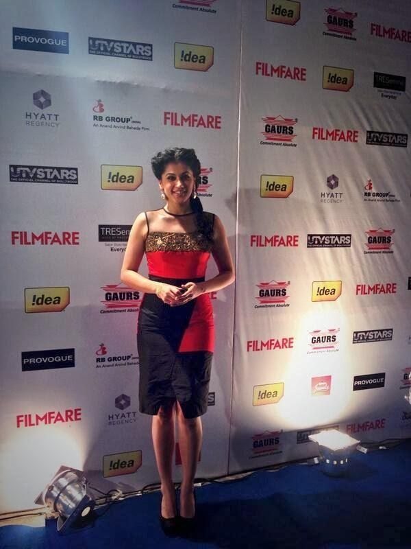Tapsee Pannu Looking Sweet In This Outfit At 59th Idea Filmfare Pre-Awards Party