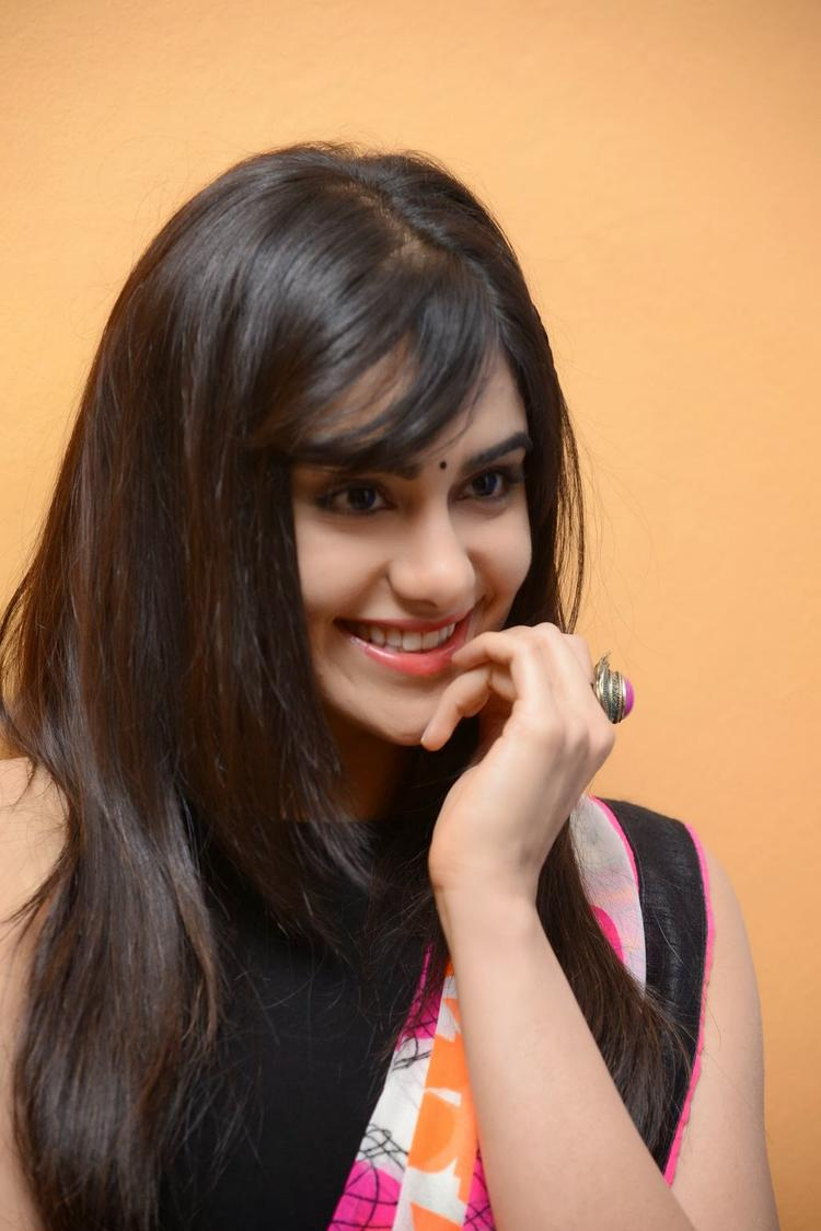 Adah Sharma Strikes A Pose At Heart Attack Audio Success Meet Event