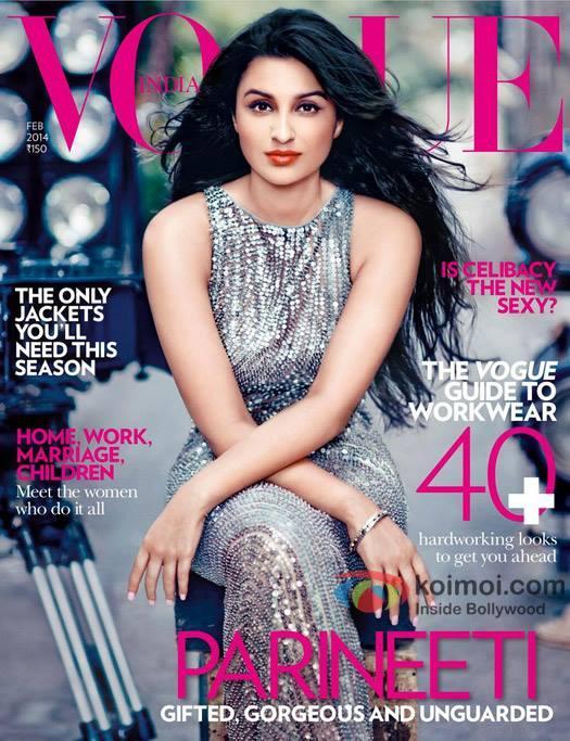 Bollywood Actress Parineeti Chopra Looks Starry On The Vogue Magazine