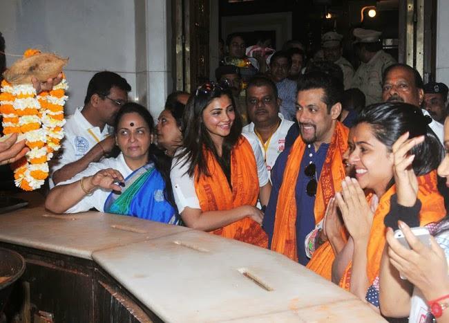 Salman Khan And Daisy Shah Smiling Look At The Siddhivinayak Temple In Mumbai