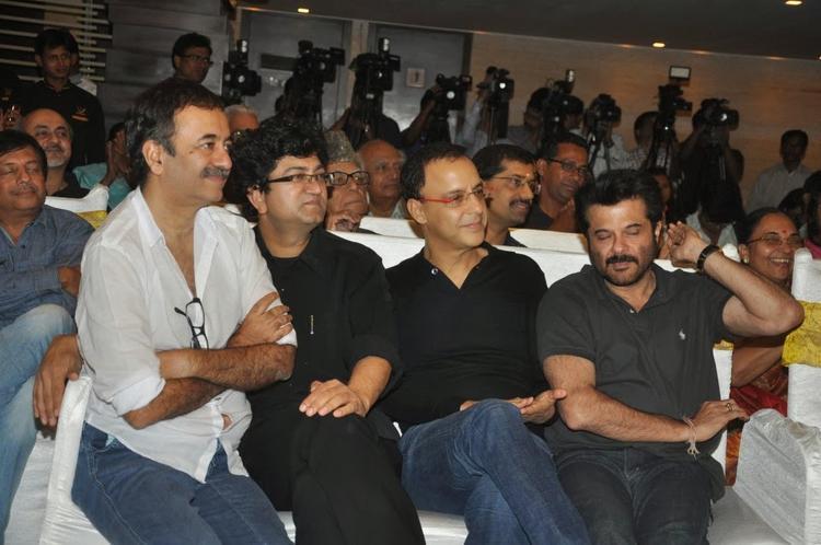 Raju Hirani,Vidhu Vinod Chopra And Anil Kapoor At The Launch Of Sagar Movietone Book