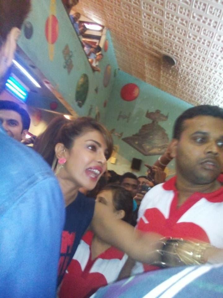 Priyanka Chopra Promotes Her Movie Gunday At Gaiety Theatre