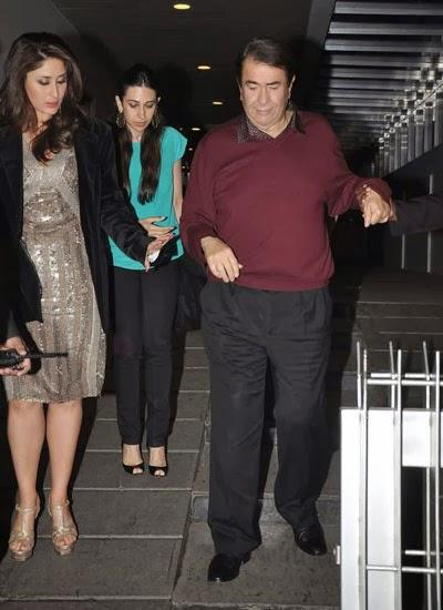 Kareena Helping Dad Walking Down The Stairs Of The Venue