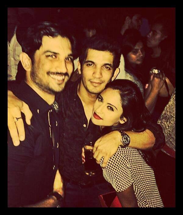 Krystle Celebrates V-Night With Sushant And Arjun Bijlani In Mumbai