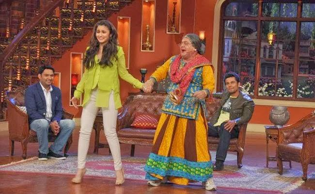 Dadi Dance With Alia For Promote Highway At Comedy Nights With Kapil