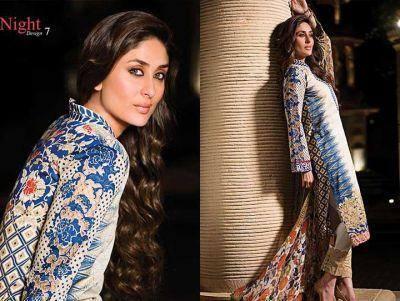 Kareena Kapoor Khan Ravishing Hot Look Pose For Faraz Manan's Crescent Lawn 2014 Collection