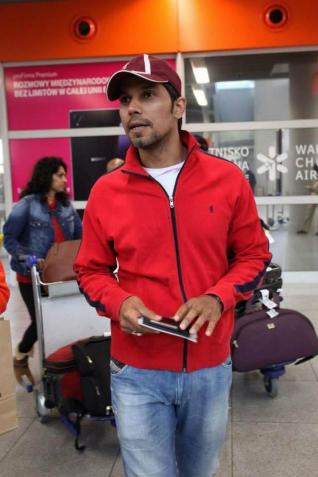 Randeep Hooda Arrived At Chopin Airport For His Upcoming Film Kick Shooting