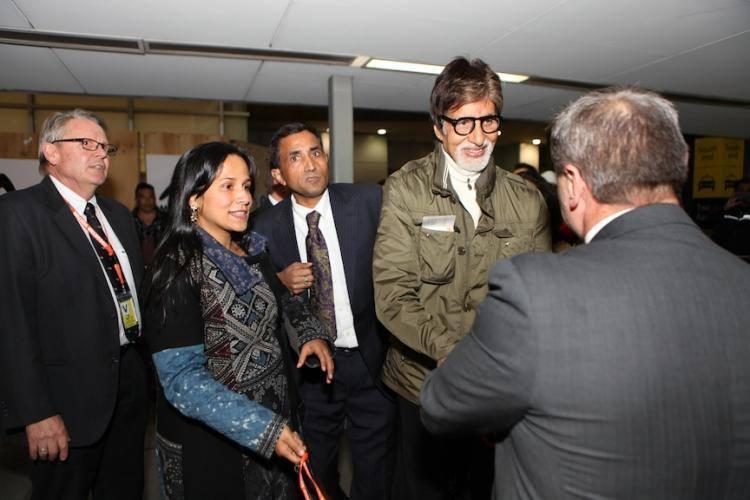 Amitabh Bachchan From Melbourne Visit For IFFM 2014