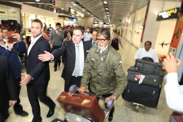 Amitabh Bachchan Snapped At Melbourne For IFFM 2014 Event
