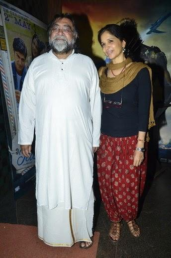 Prahlad Kakkar With Wife Snapped At Special Screening Of Purani Jeans