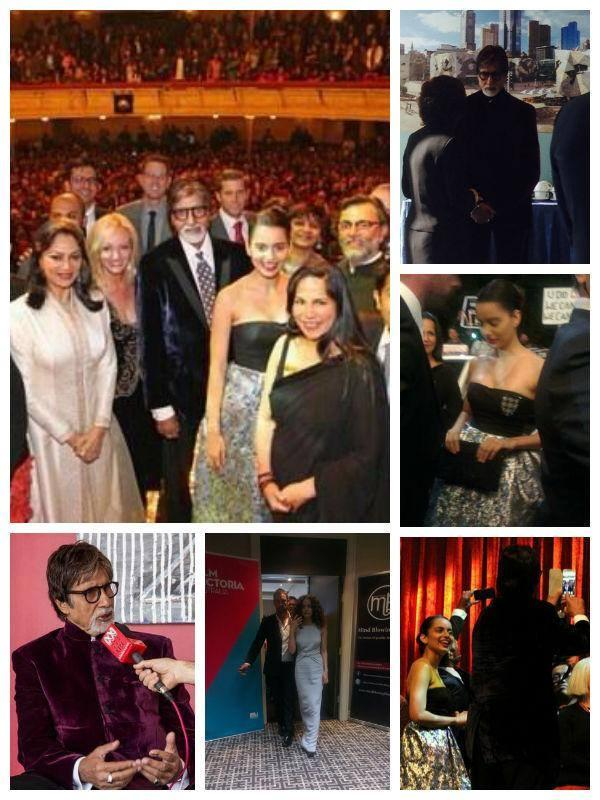 Amitabh Bachchan And Kangana Ranaut Latest Pics At The Indian Film Festival Melbourne