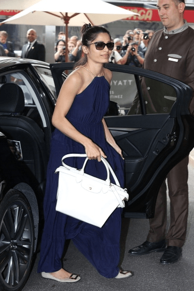 Elegant Freida Pinto Snapped Outside Her Hotel At Cannes