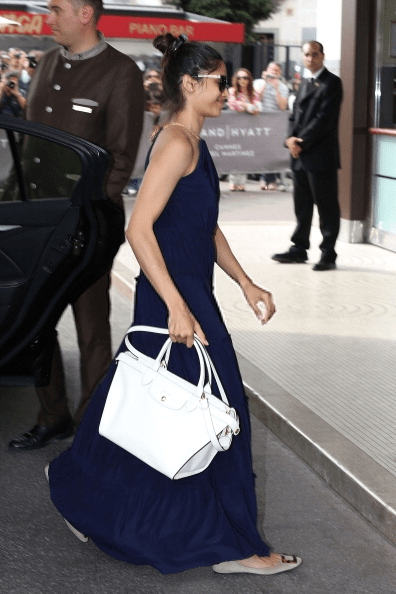 Freida Pinto Arrives At Hotel Martinez At 67th Annual Cannes Film Festival