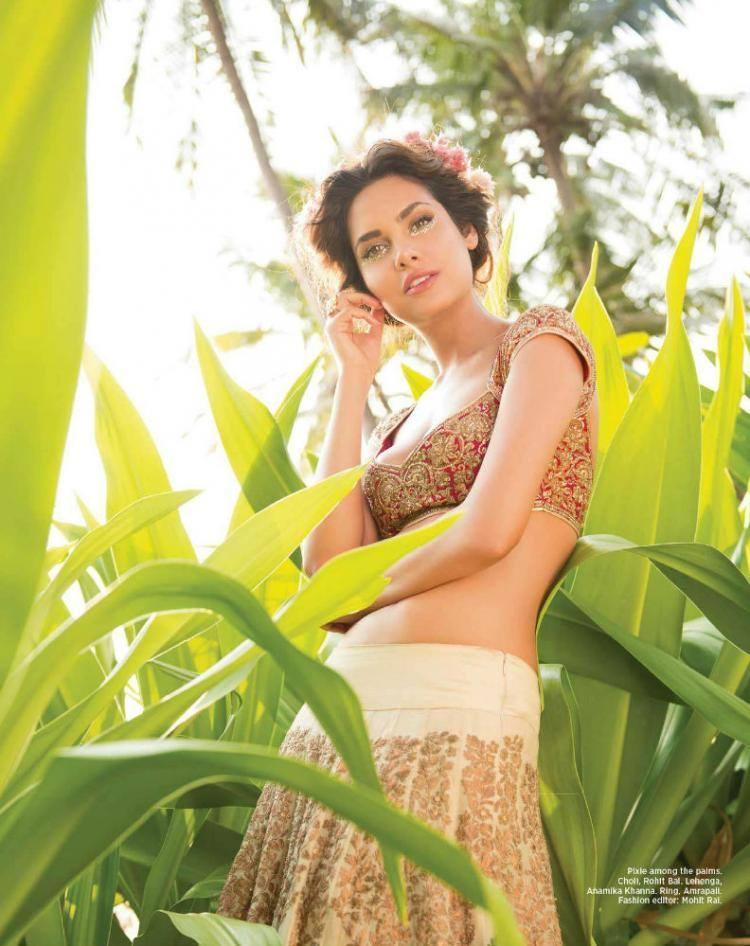 Sultry Esha Gupta Shoots For Harper's Bazaar Bride June 2014 Issue