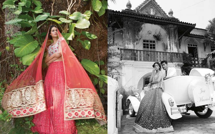 Vancouver Desi Bollywood Actress Esha Gupta On Harper's Bazaar Bride June 2014 Issue