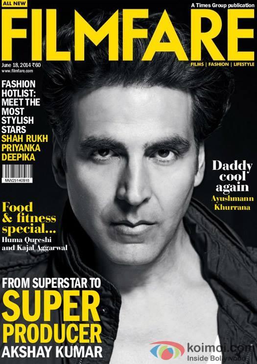 Debonair Akshay Kumar Rocks The Cover Of Filmfare Magazine June 2014