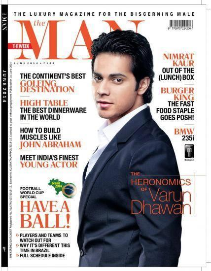 Varun Dhawan Dashing Hot Look On The Cover Of The Man Magazine 2014 June Issue