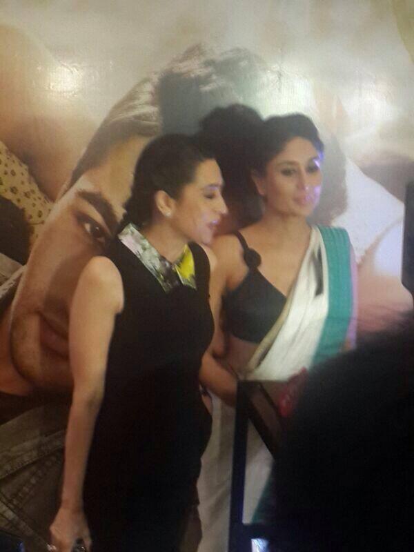 Two Sisters Karisma And Kareena Attend The Music Launch Of Lekar Hum Deewana Dil Movie