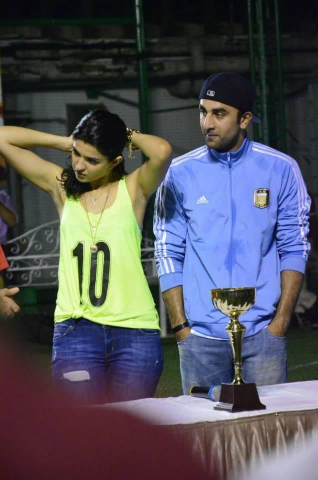 Deeksha And Ranbir Attend The Football Match During The Promotion Of Lekar Hum Deewana Dil Movie