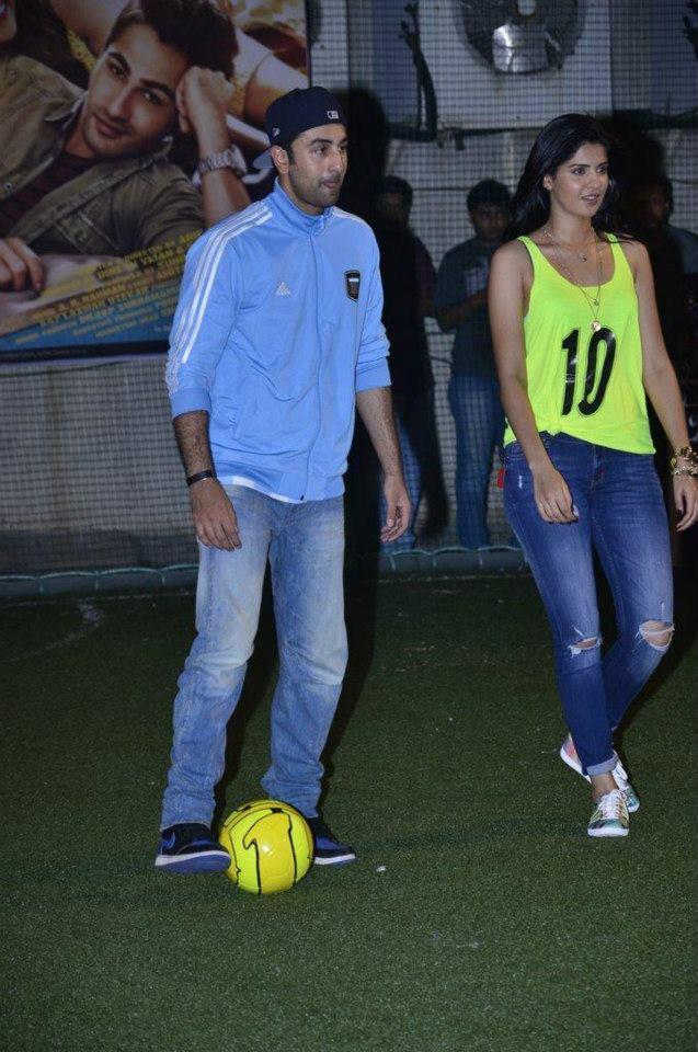 Ranbir And Deeksha Starting Football Match At The Promotion Of Lekar Hum Deewana Dil Movie