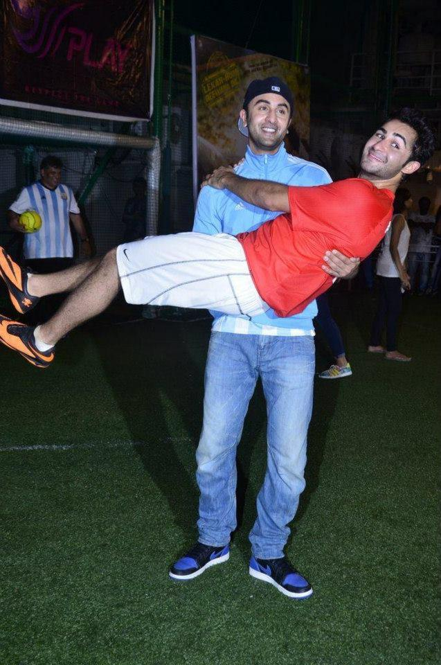 Ranbir Being The Elder And Naughtier Lifted Up Armaan In His Arms