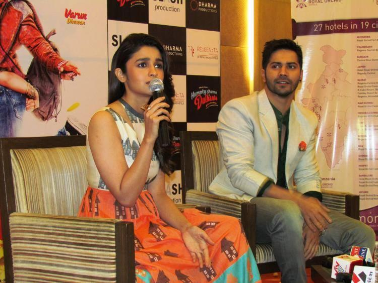 Alia Bhatt Interact With Media About Her Movie HSKD In Ahmedabad