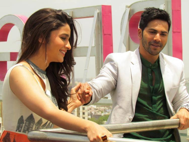 Varun And Alia Bhatt Spotted At Ahmedabad To Promote Their Upcoming Movie HSKD