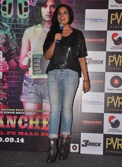 Richa Chadda Speaks During Tamanchey Movie Trailer Launch
