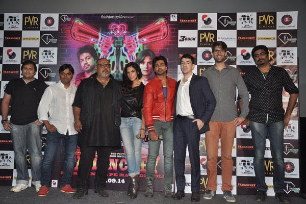 Richa Chadda,Nikhil Dwivedi And Other Casts Clicked During The Trailer Launch Of Tamanchey