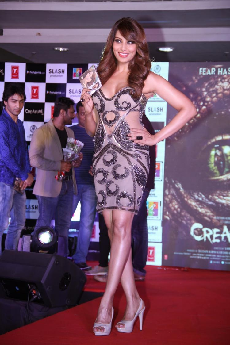 Bipasha Basu Unveils The Audio CD On Ramp During The Music Launch Of Creature 3D Movie