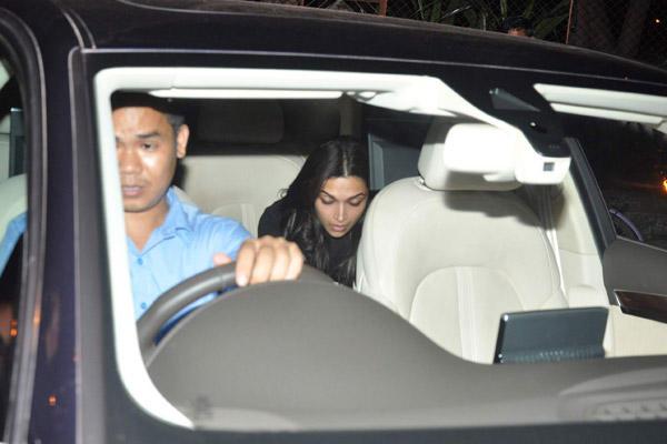 Deepika Padukone Snapped At Badlapur's Wrap-up Bash