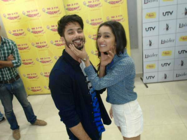 Shahid And Shraddha Continue To Display Off Screen Fondness At Haider Promotions