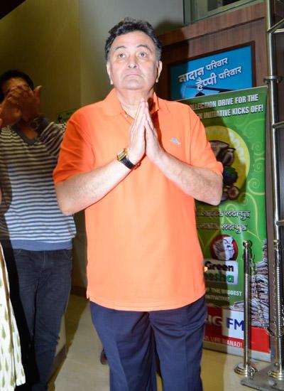 Rishi Kapoor Greets Fans At 92.7 Big FM Radio Station During His Birthday Celebration