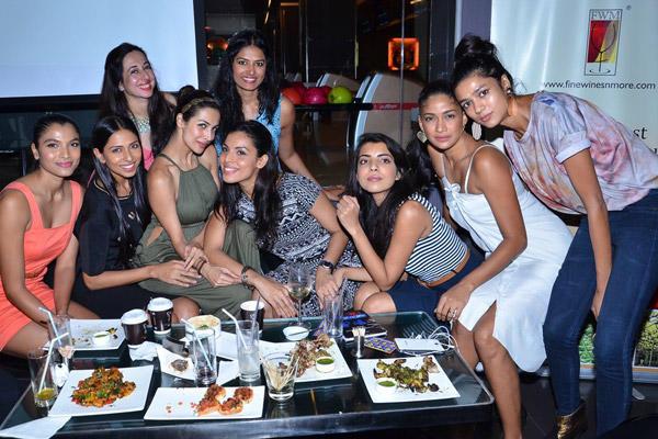Candice,Malaika,Vahbiz Mehta,Deepti And Carol Clicked A Cool Pose At Power Women Fiesta Hosted By Vahbiz