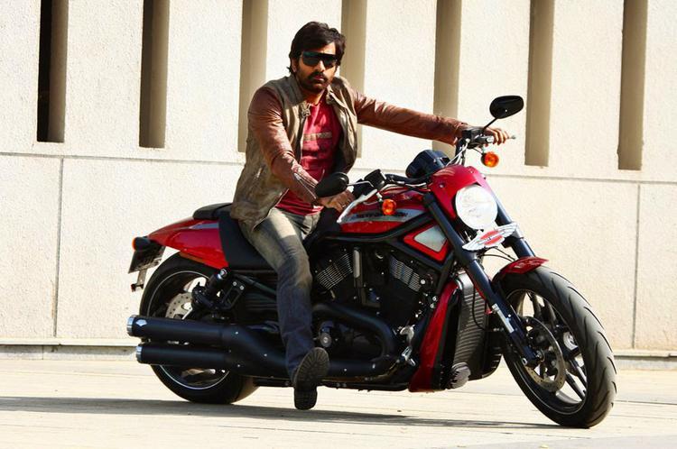 Ravi Teja In A Bike Smart Look Photo Still From Power Movie