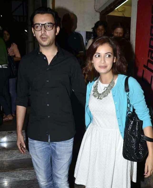 Dia Mirza With Beau Sahil Sangha Attend The Screening Of Finding Fanny Movie
