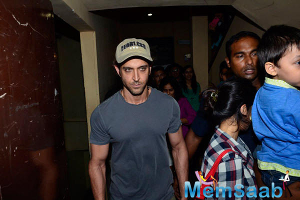 Hrithik Roshan Present During Finding Fanny Screening Hosted By Homi Adajania