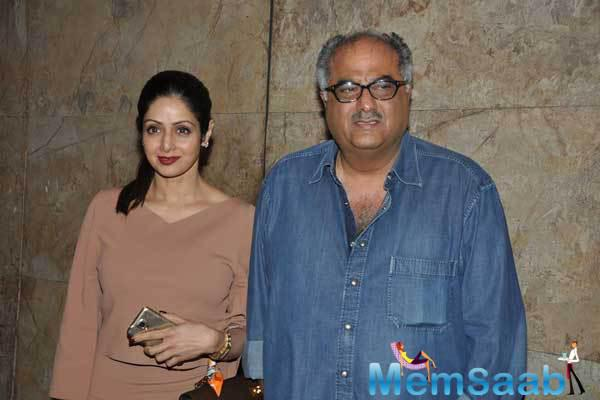 Boney Kapoor And Sridevi Arrived For The Screening Of Khoobsurat