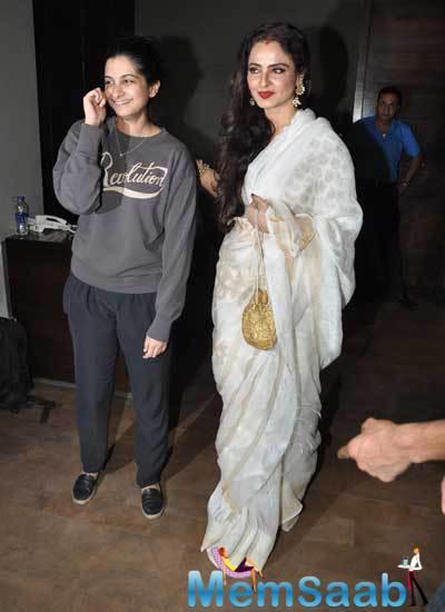 Rhea Kapoor And Rekha Attended Special Screening Of Khoobsurat