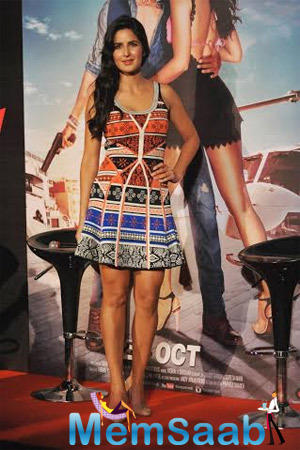 Katrina Looked Lovely In A Diane Von Furstenberg Creation At Bang Bang Title Song Launch