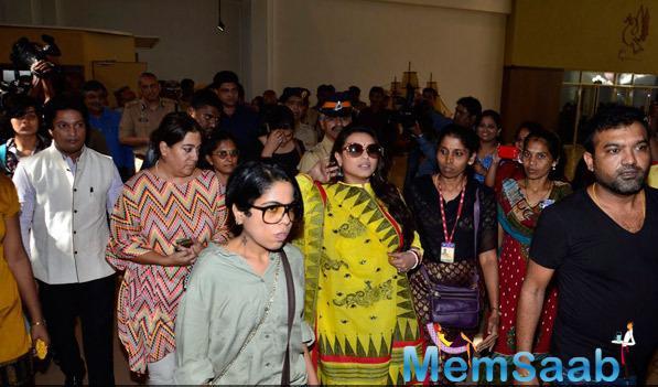 Rani Mukerji Arrived To Attend Make Way For Ambulance Awareness Event