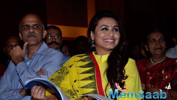 Rani Mukerji Smiling Look During Make Way For Ambulance Awareness Event