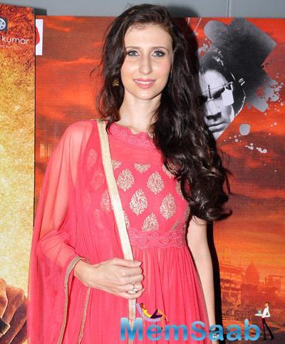 Claudia At Fun Republic Theater For Desi Kattey Special Screening
