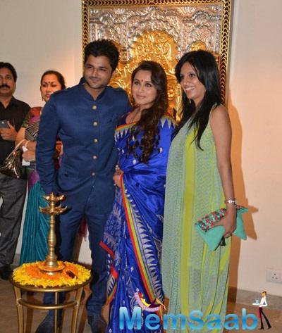 Rani Mukerji Attended An Art Exhibition At Cymroza Art Gallery