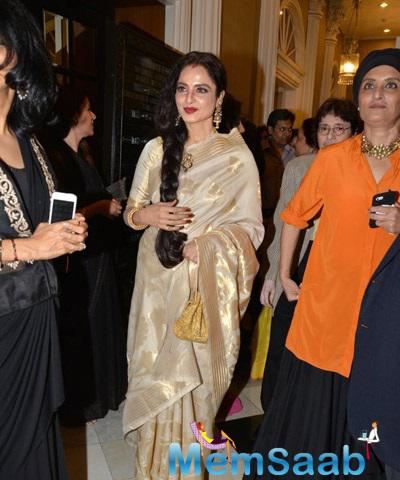 Gorgeous Rekha At The Launch Of Yard Exhibition By Sahachari Foundation