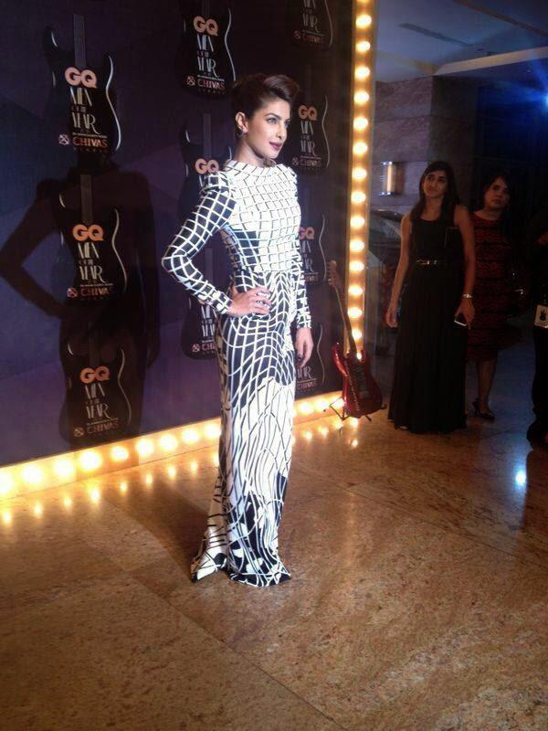 Priyanka Chopra In Toni Maticevski At GQ Men Of The Year Awards