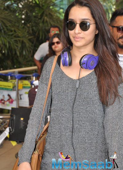 Shraddha Kapoor Looks Stunning In Her Style At Mumbai International Airport